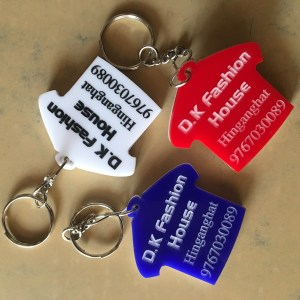 T-shirt ,Shirt shape keychain for shop ad