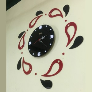Red and Black Petels Theme wall Clock online