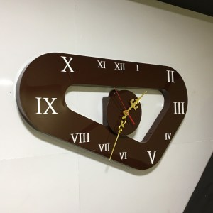 Wall clock in 3D shape for home and office