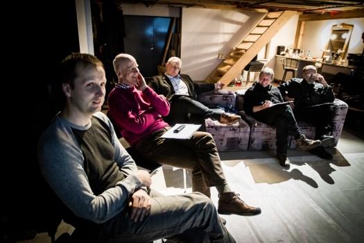 Vasakult:: Jarek Jõepera, Jukka Gröndahl, Urmo Soonvald, Ints Kalnins, Tiit Veermäe. foto: Raul Mee