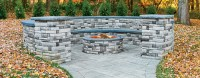 EP Henry | Cast Stone Wall Round Fire Pit Kit - EP Henry