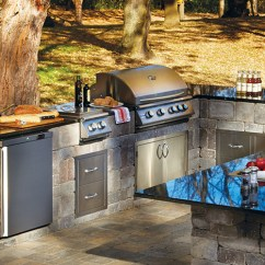Outdoor Kitchens Kits Rustic Wood Kitchen Island Ep Henry Necessories
