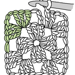 Crochet Granny Square Diagram Frog Internal Anatomy Labeled Tuesday Tute The Humble And Along So
