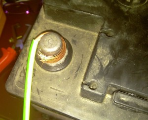 car battery negative lead