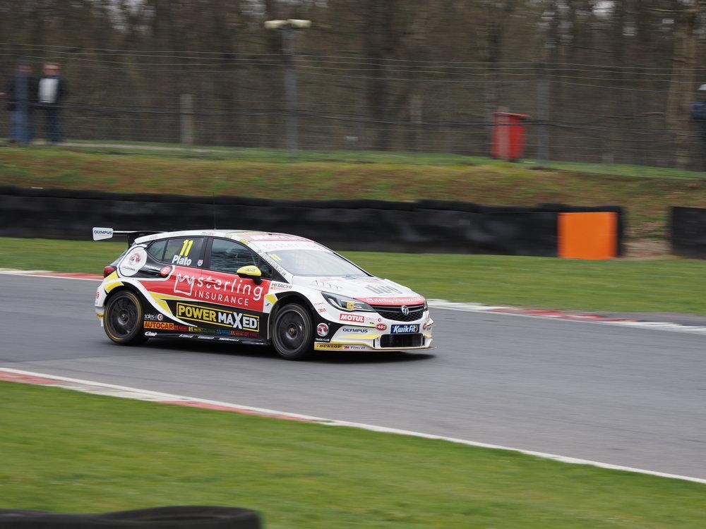 Car on race track