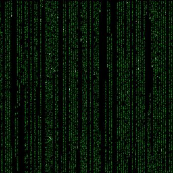 Streaming code from the Matrix movie