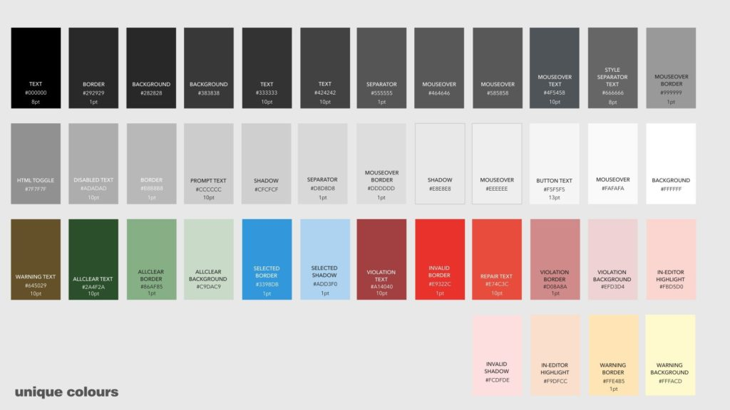 Textbox.io Ephox UX Guide - Color palette