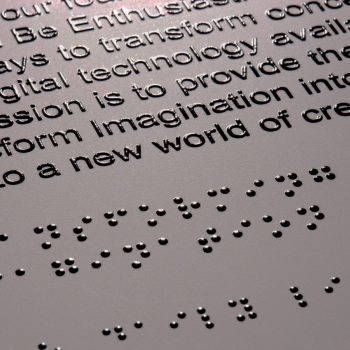 Braille and text