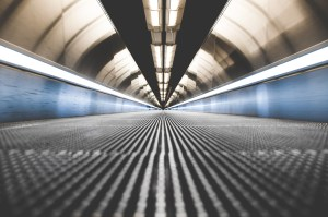 Airport escalator by Paul Dufour