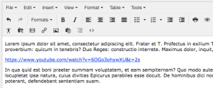 Plain hyperlink with underlined blue text