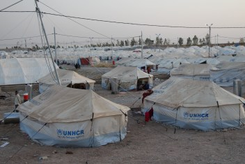 Many Iraqi IDPs that have fled violence in recent weeks have been moved into camps like these in Northern Iraq.