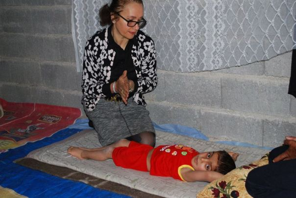 Hala Al Sarraf with Mohammed in Kirkuk, Iraq
