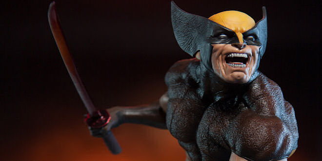 Marvel Sideshow Collectibles Brown Wolverine  Premium Format 1/4 Statue