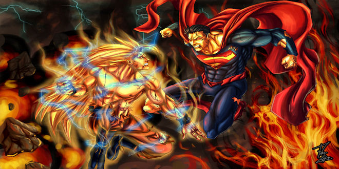 Goku vs Superman Death Battle Animation Clips Video