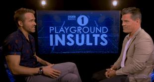 Ryan Reynolds Josh Brolin Funny Playground Insults for BBC Radio 1