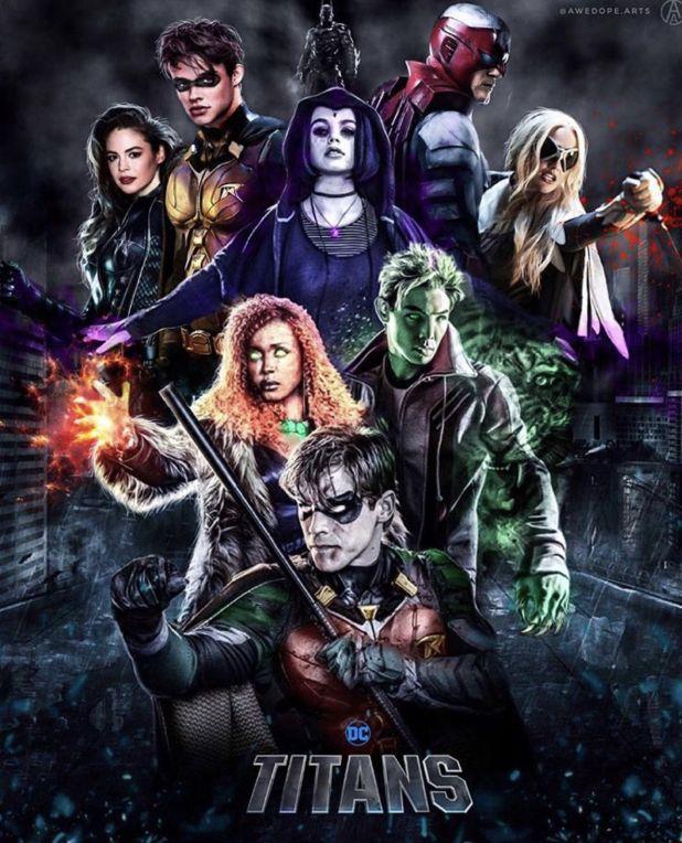 DC Titans whole team