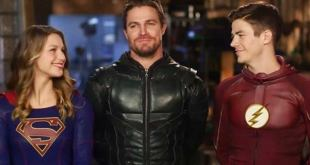 Arrowverse Stars Melissa Benoist and Grant Gustin Praise Stephen Amell for Helping Create a Legacy