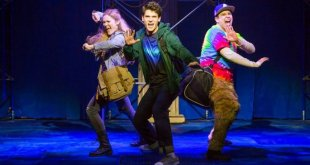 Some of the cast of The Lightning Thief musical