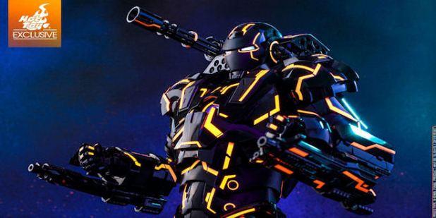 Marvel War Machine Neon Tech Diecast Action Figure - Hot Toys Exclusive
