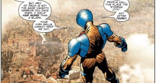 Panel from X-O Manowar #4 by Cary Nord.