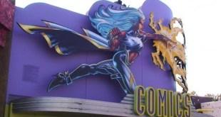 Marvel Comic Book Store Super Hero Island Universal Studios Orlando full walk round