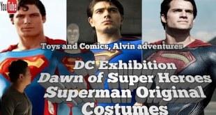 Superman Movies Original costume/ DC exhibit London