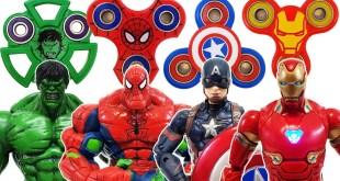 Avengers, Fidget Spinner Go~! Spider-Man, Captain America, Hulk, Transformer! Iron Man! Bumblebee!