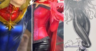 Kotobukiya ARTFX Premier Scarlet Witch & Captain Marvel! Bishoujo Black Cat!