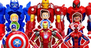 PJ Masks! Let's Help Avengers With Avengers Mech Armor Suit! #ToyMartTV