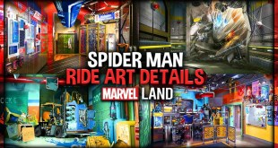 Spider Man Ride Details at Marvel Land from Released Concept Art at Disney's California Adventure