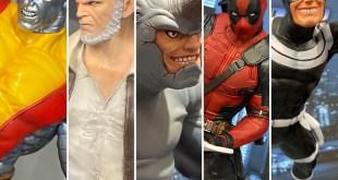 Toy Fair: Marvel Premier Collection Statues! Rhino Bullseye Logan Deadpool!