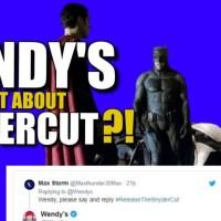 WOW! Wendy's Drops A SnyderCut Bomb On Twitter & BVS Talk   Release The Snyder Cut DCEU News