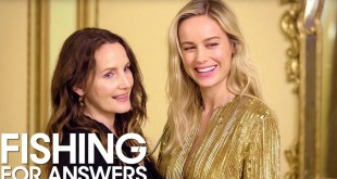 'Captain Marvel' Star Brie Larson & Stylist Samantha McMillen Play 'Fishing for Answers' | THR