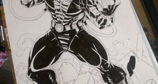 Final inking of Bane                                    ...