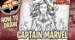 How to Draw CAPTAIN MARVEL (2019 Movie) | Narrated Easy Step-by-Step Tutorial