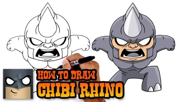 How to Draw Rhino Marvel Comics Video Tutorial 9 mins