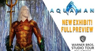 New Aquaman Exhibit at Warner Bros. Studio Tour Hollywood!