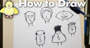 Drawing: How To Draw Easy Cartoon Faces Step by Step