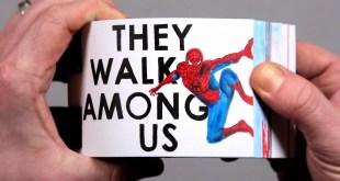 Drawing a REAL Superhero Flip Book!