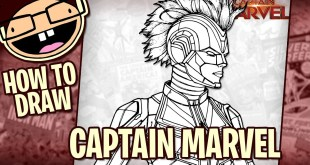 How to Draw Captain Marvel with Helmet Easy to Draw Marvel Comics
