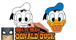 How to Draw Donald Duck (Step by Step Drawing Tutorial)