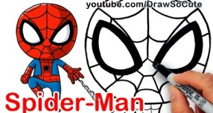 How to Draw Spider-Man from Marvel Comics Chibi Style