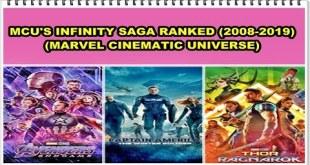 MCU | MARVEL CINEMATIC UNIVERSE'S INFINITY SAGA RANKED (ALL 23 MOVIES 2008-2019)