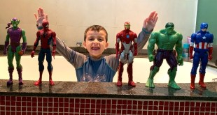 PLAYING DIFFERENT SUPERHERO MARVEL TOYS INSIDE THE SWIMMING POOL !!