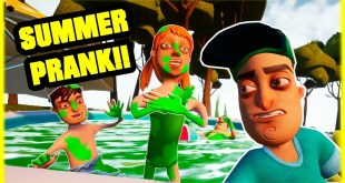 SLIME SUMMER FAMILY POOL PRANK!!! - Hello Neighbor Mod