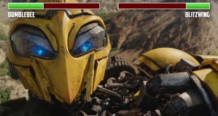 Bumblebee vs Blitzwing W/ HEALTHBARS Canyon Fight HD Transformers
