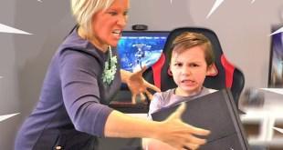 Psycho mom DESTROYS PS4 over Fortnite (MAD)
