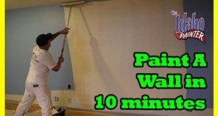 ROLLING WALLS FAST.  How to paint a room in 1 hour.  Fast painting hacks. DIY house painting.