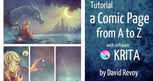 Tutorial: a Comic page from A to Z with Krita