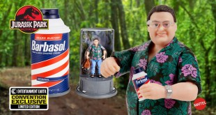 Convention Exclusive Jurassic Park Barbasol Nedry Action Figure and Talking Display!
